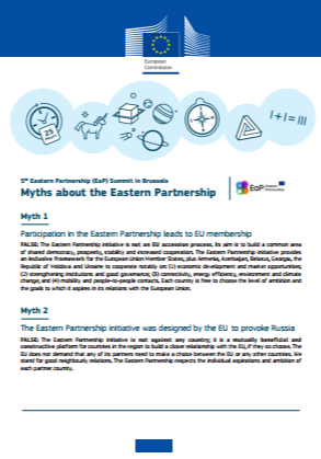 Factsheet on myths about the Eastern Partnership