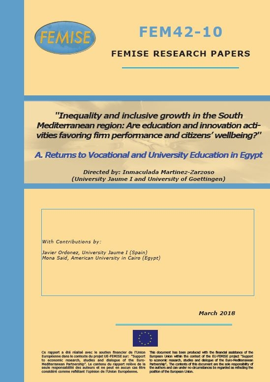 FEMISE research project FEM42-10 - Inequality and inclusive growth : Are education and innovation favoring firm performance and well-being?