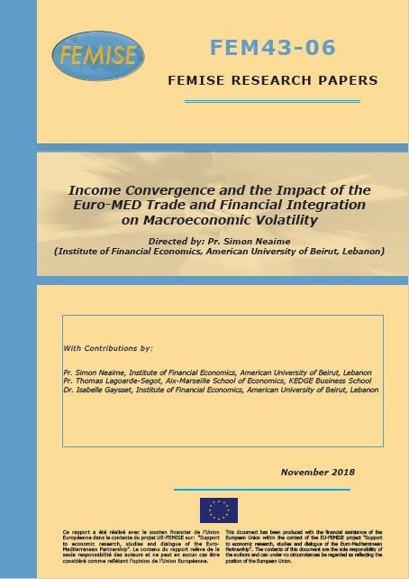 FEMISE research paper FEM43-06 : Income Convergence and the Impact of the Euro-MED Trade and Financial Integration on Macroeconomic Volatility