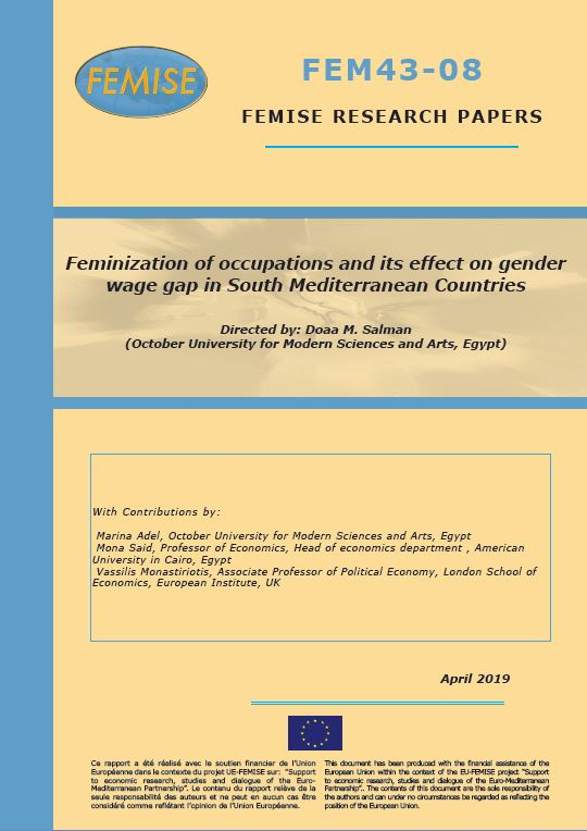 FEMISE Research paper FEM43-08: Feminization of occupations and its effect on gender wage gap in South Mediterranean Countries