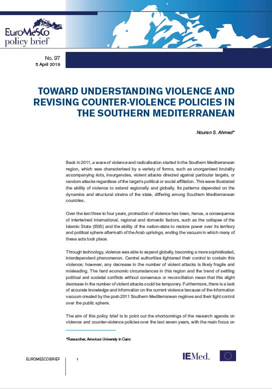 Euromesco Policy Brief 97 - Toward Understanding Violence and Revising Counter-Violence Policies in the Southern Mediterranean