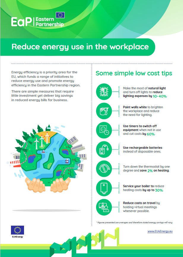 EU4Energy: Reduce energy use in the workplace