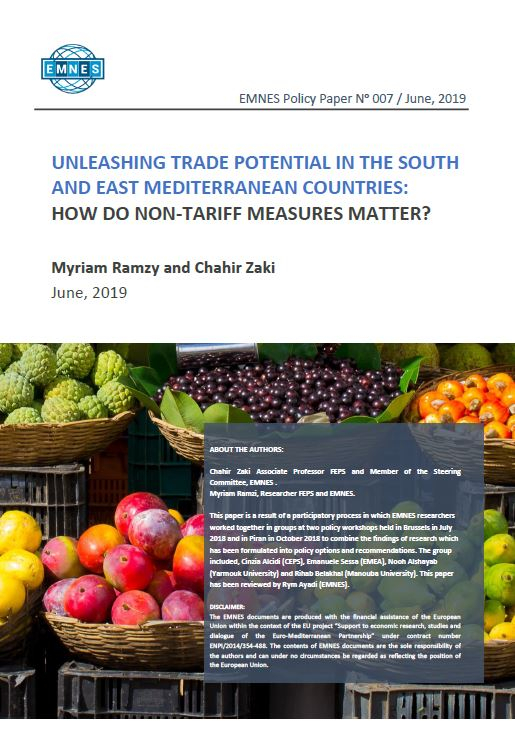 EMNES Policy Paper 007 – Unleashing trade potential in the South and East Mediterranean Countries : How do non-tariff measures matter?
