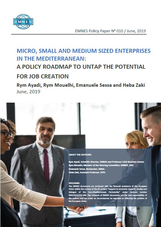 EMNES Policy Paper 010 – Micro, Small and Medium enterprises in the Mediterranean: a policy roadmap to untap the potential for job creation