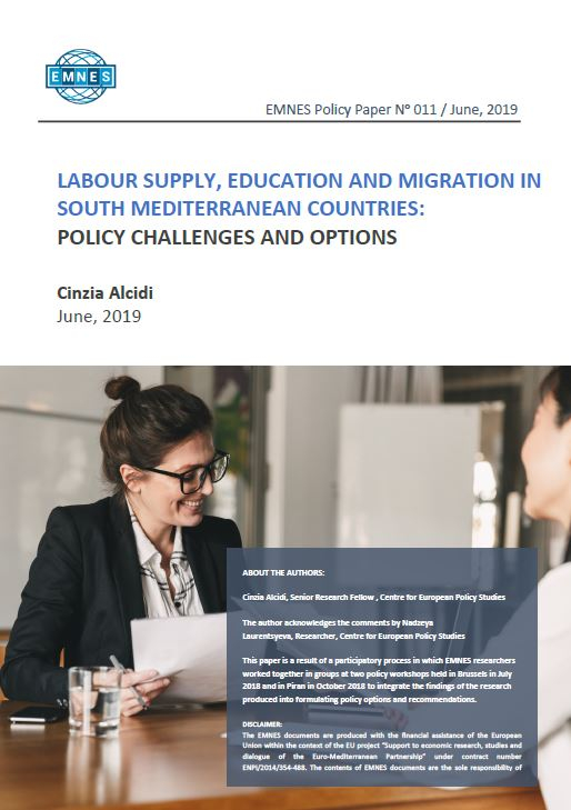 EMNES Policy Paper 011 : Labour supply, education and migration in South Mediterranean countries: policy challenges and options
