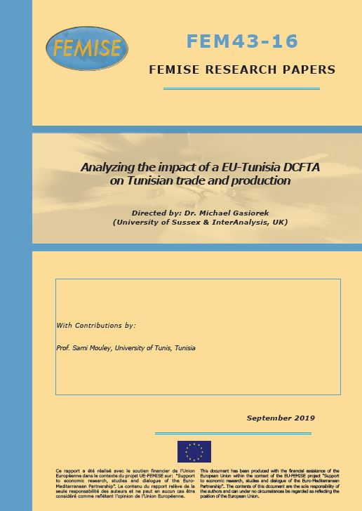 FEMISE Research Paper FEM43-16: Analysing the impact of a EU-Tunisia DCFTA on Tunisian trade and production