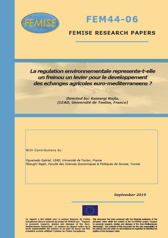 FEMISE Research Paper FEM44-06: Environmental Regulation and Agricultural Trade Development