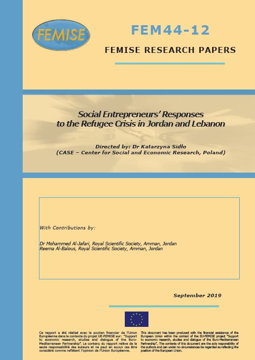 FEMISE Research Paper FEM44-12: Social Entrepreneurs' Responses to the Refugee Crisis in Jordan and Lebanon