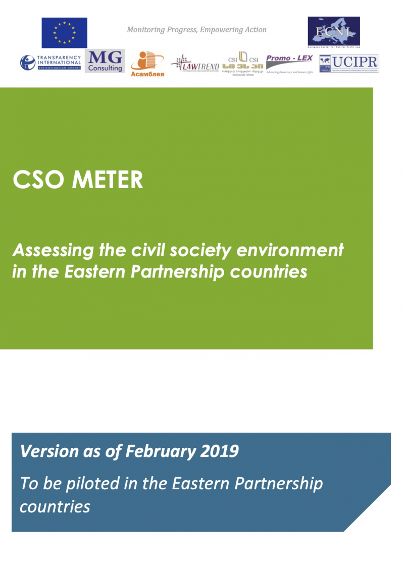 CSO METER: Assessing the civil society environment in the Eastern Partnership countries