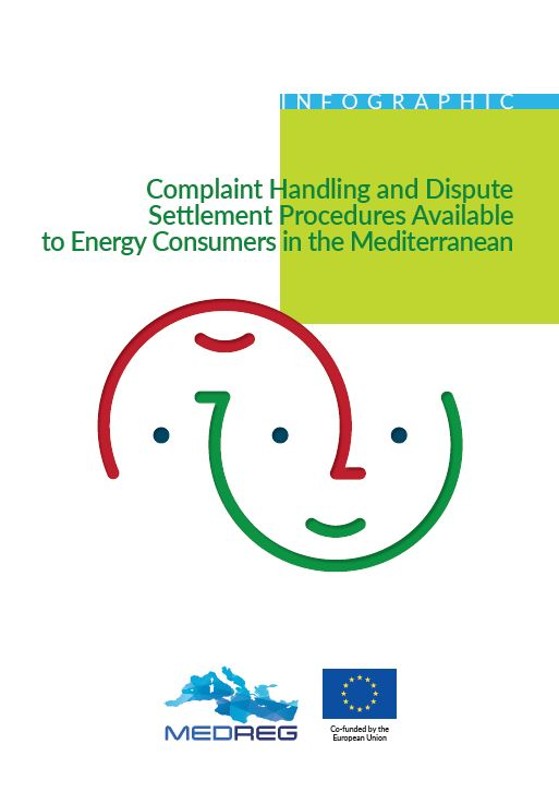 MEDREG Infographic - Complaint handling & Dispute Settlement Procedures available to Energy consumers