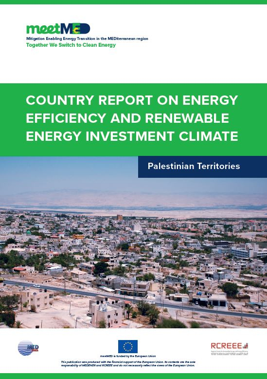 meetMED country report on energy efficiency and renewable energy investment climate – Palestinian Territories