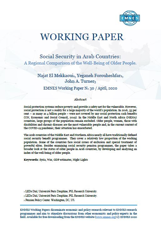EMNES Working Paper 030 -  Social Security in Arab Countries: A regional comparison of the well-being of older people