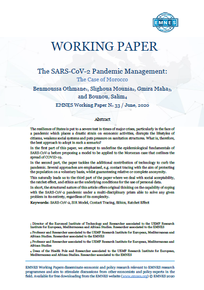 EMNES Working Paper 033 - The SARS-CoV-2 Pandemic Management:  The Case of Morocco
