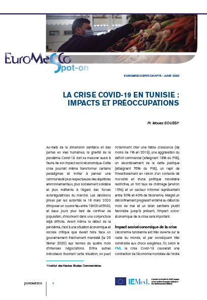 Euromesco Spot-On 15 – The COVID-19 crisis in Tunisia : Impacts and concerns