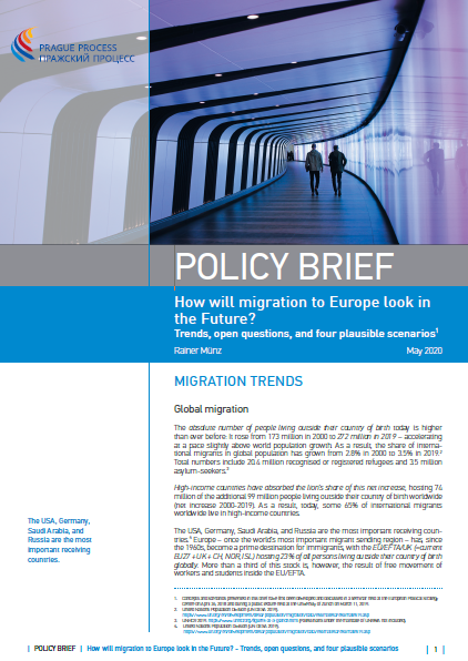Policy brief – How will migration to Europe look in the future?