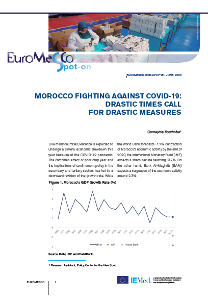 Euromesco Spot-On 18 – Morocco fighting against Covid-19: Drastic times call for drastic measures