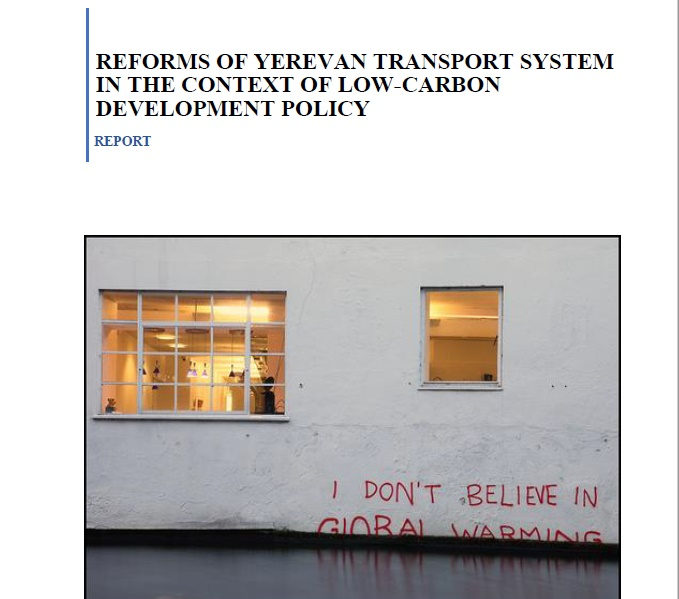 Reforms of Yerevan transport system in the context of low-carbon development policy