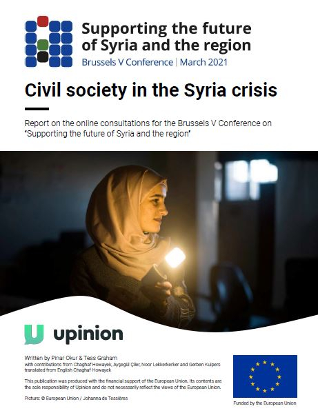 Civil society in the Syria crisis – Report on the online consultations for the Brussels V Conference on « Supporting the future of Syria and the region »