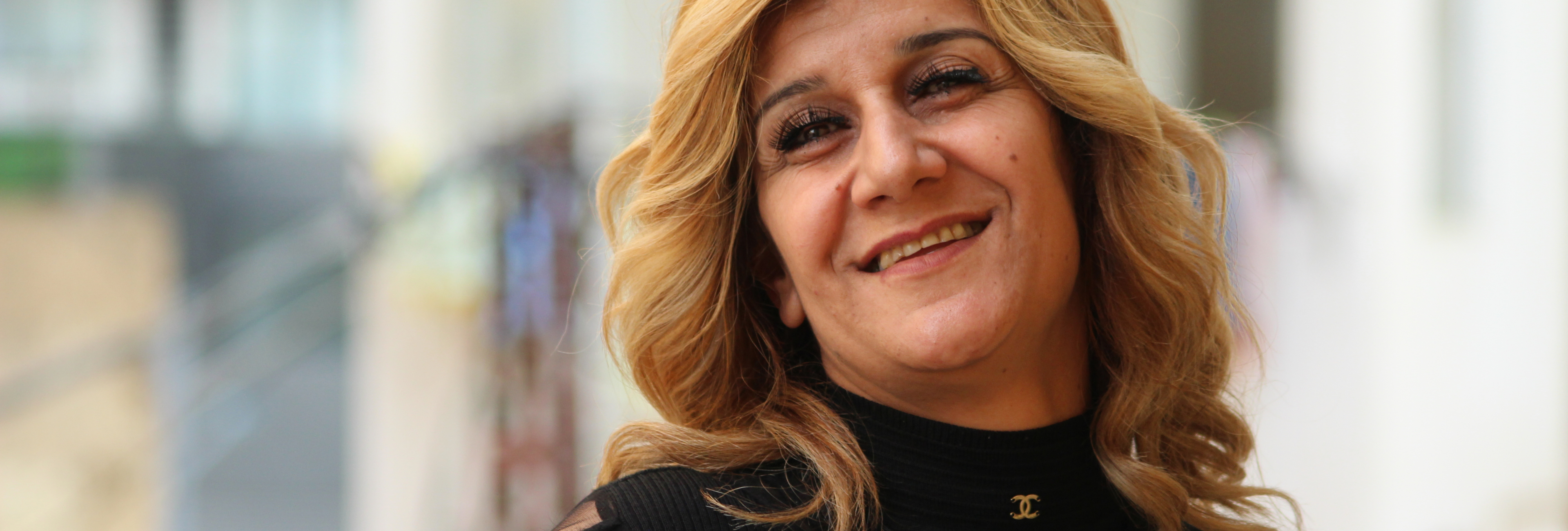 Faten Merhi, 39, beneficiary of the EU-funded DAWRIC project, Chiyah, Lebanon.